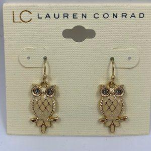 Lauren Conrad Owl Dangle Earrings
